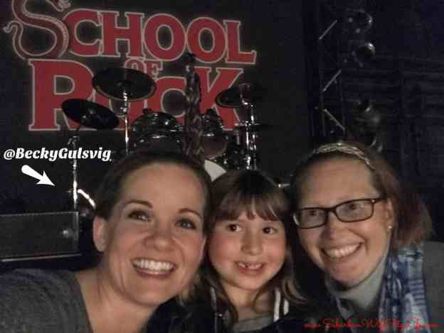 Backstage with Becky at School of Rock