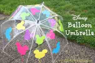 Balloon Umbrella Disney DIY