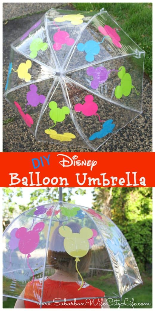 Disney Balloon Umbrella with Cricut