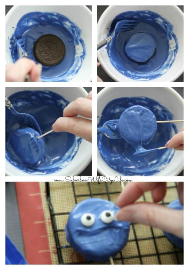 How to make Blue Man Group Cookies