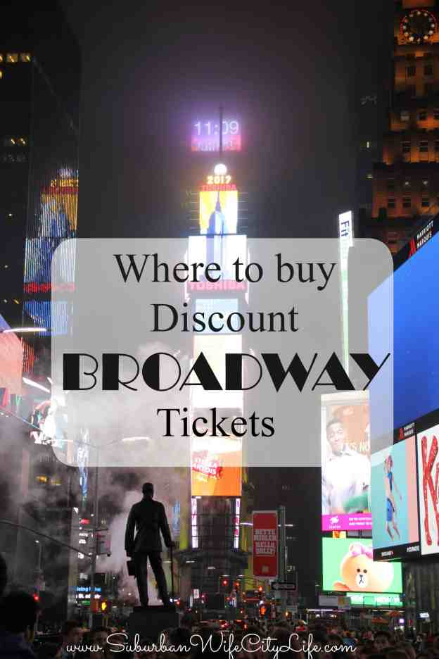 Where to buy Discount Broadway tickets NYC
