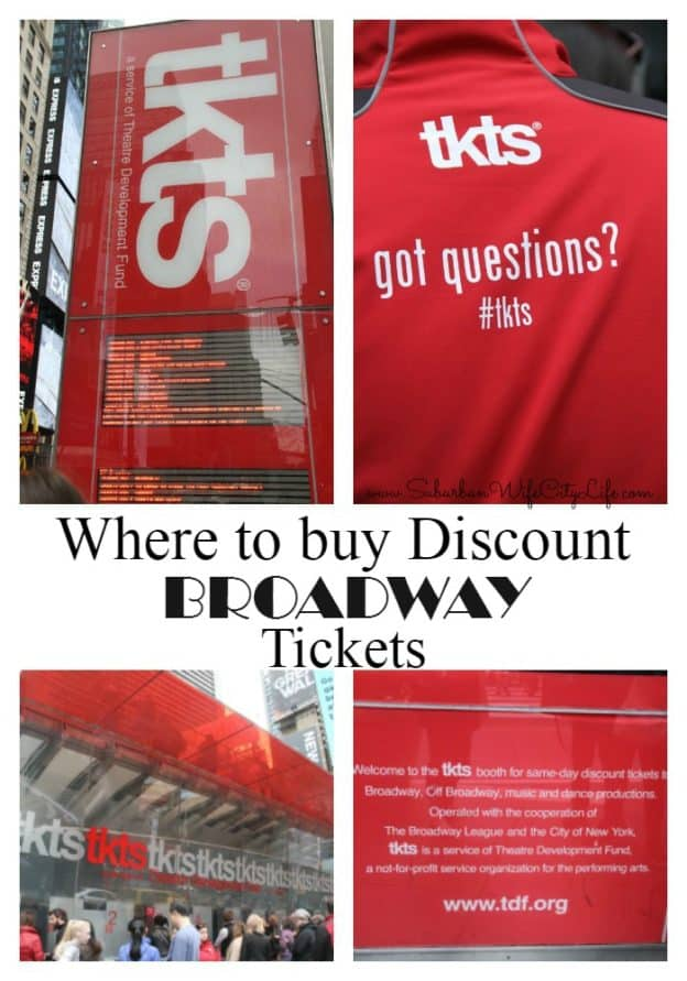 Where to buy discount Broadway tickets - TKTS