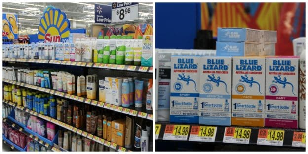 Walmart Sun Zone Blue Lizard®