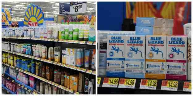 Walmart Sun Zone Blue Lizard®