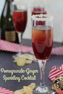 Pomegranate Ginger Sparkling Cocktail