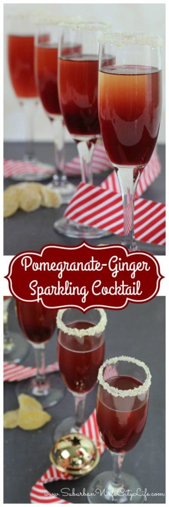 Pomegranate Ginger Sparkling Cocktails