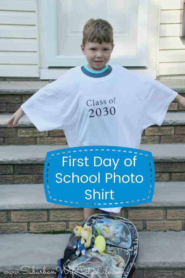 First Day of School Photo Shirt