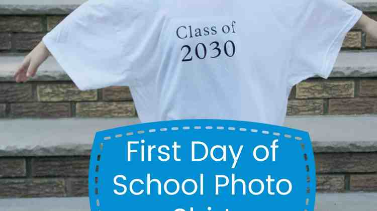 DIY First Day of School Photo Shirt