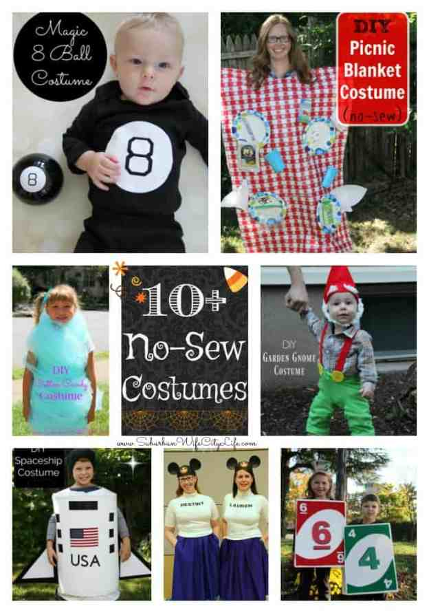10+ No-Sew Halloween Costumes