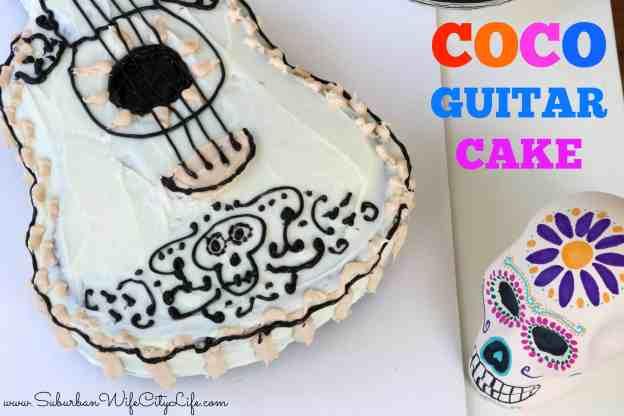 Coco Guitar Cake #PixarCoco