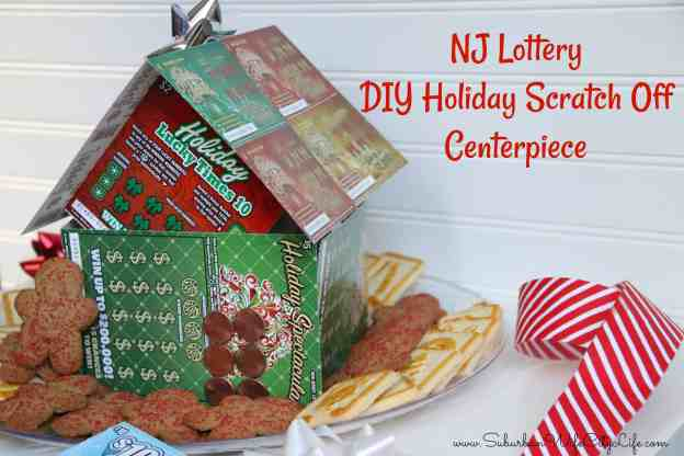 DIY NJ Lottery Holiday Scratch Off Centerpiece