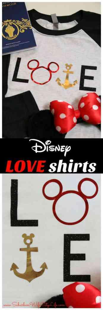DIY Disney LOVE shirts #CricutMade