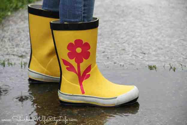 Rain boots remake #CricutMade