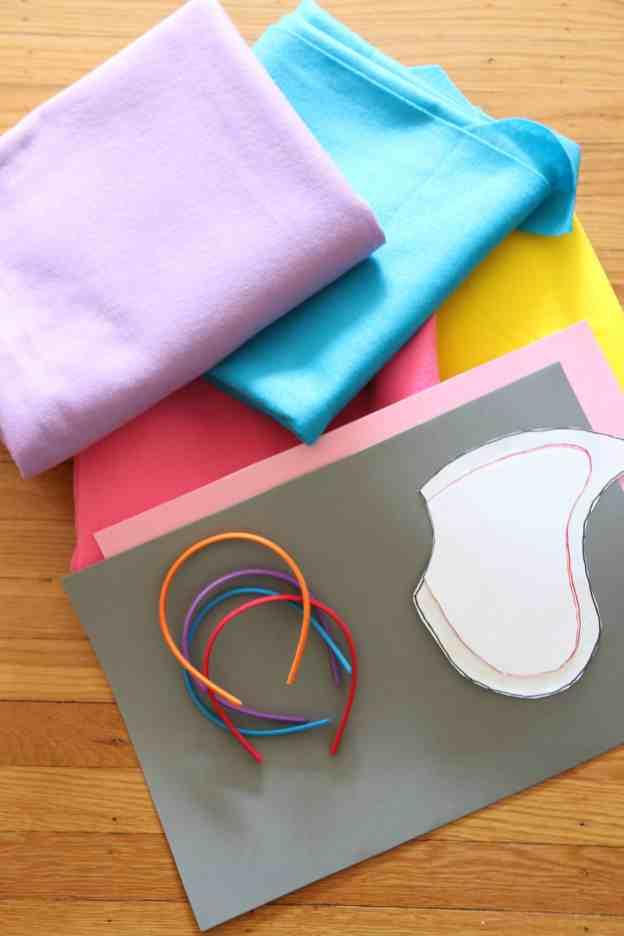 Supplies for DIY Dumbo Costume