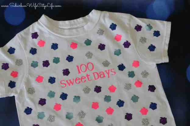 100 sweet days shirt idea for the 100th day of school #CricutMade
