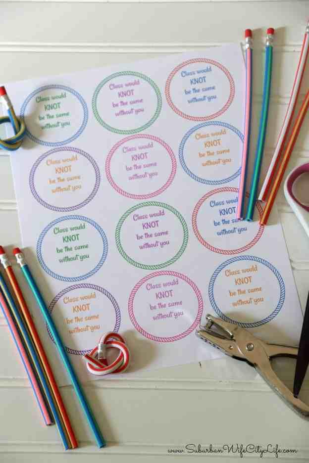 Twisty Pencil Valentine Supplies