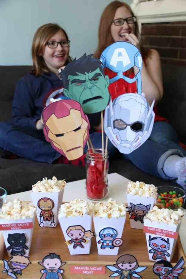 Marvel Movie Night Popcorn Boxes