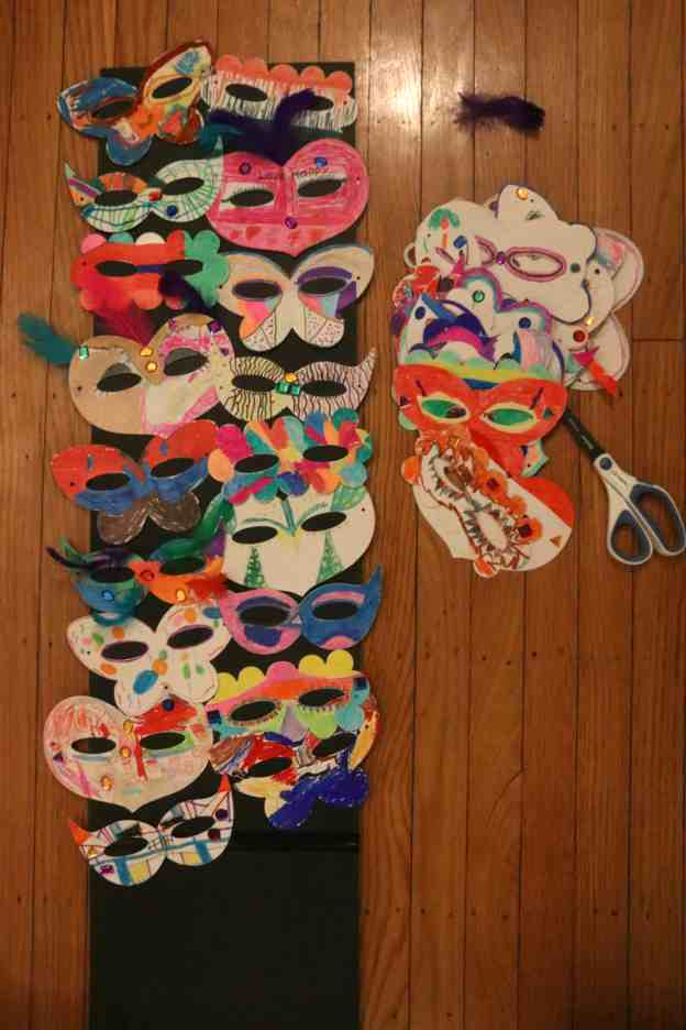 Masks made by kids