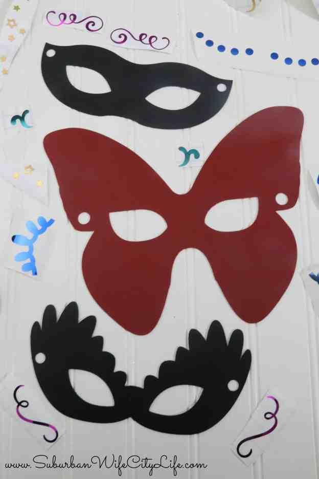 Masquerade Masks decorations using vinyl