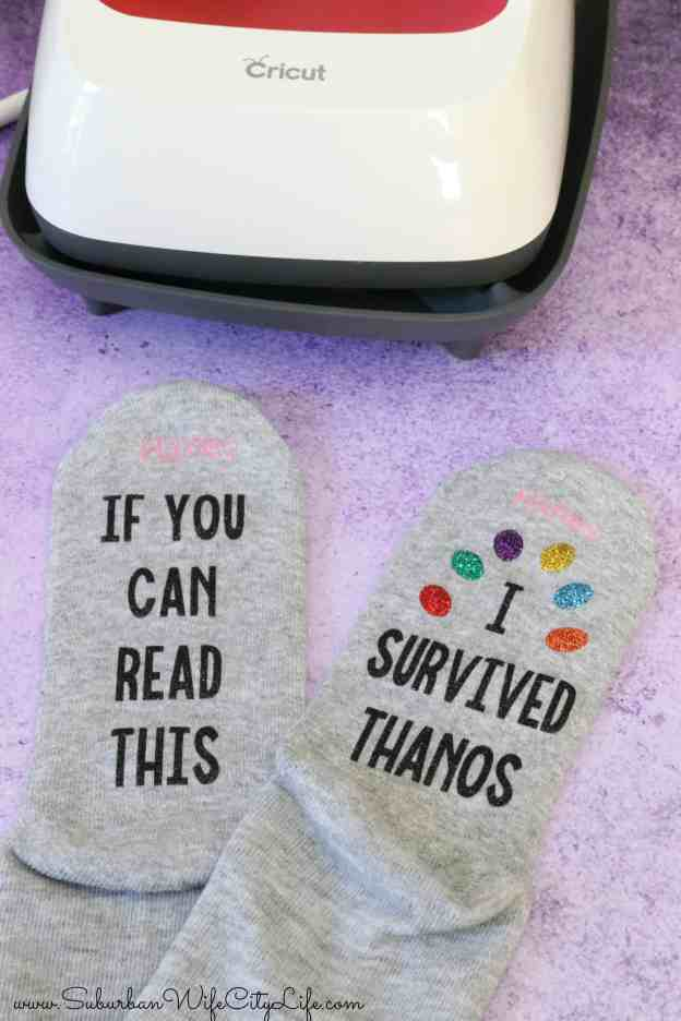 Marvel Thanos Socks #cricutmade #cricutmaker