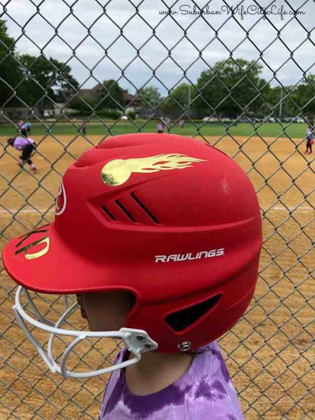 Personalized Softball helmet