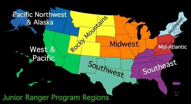 Junior Ranger Program Regions