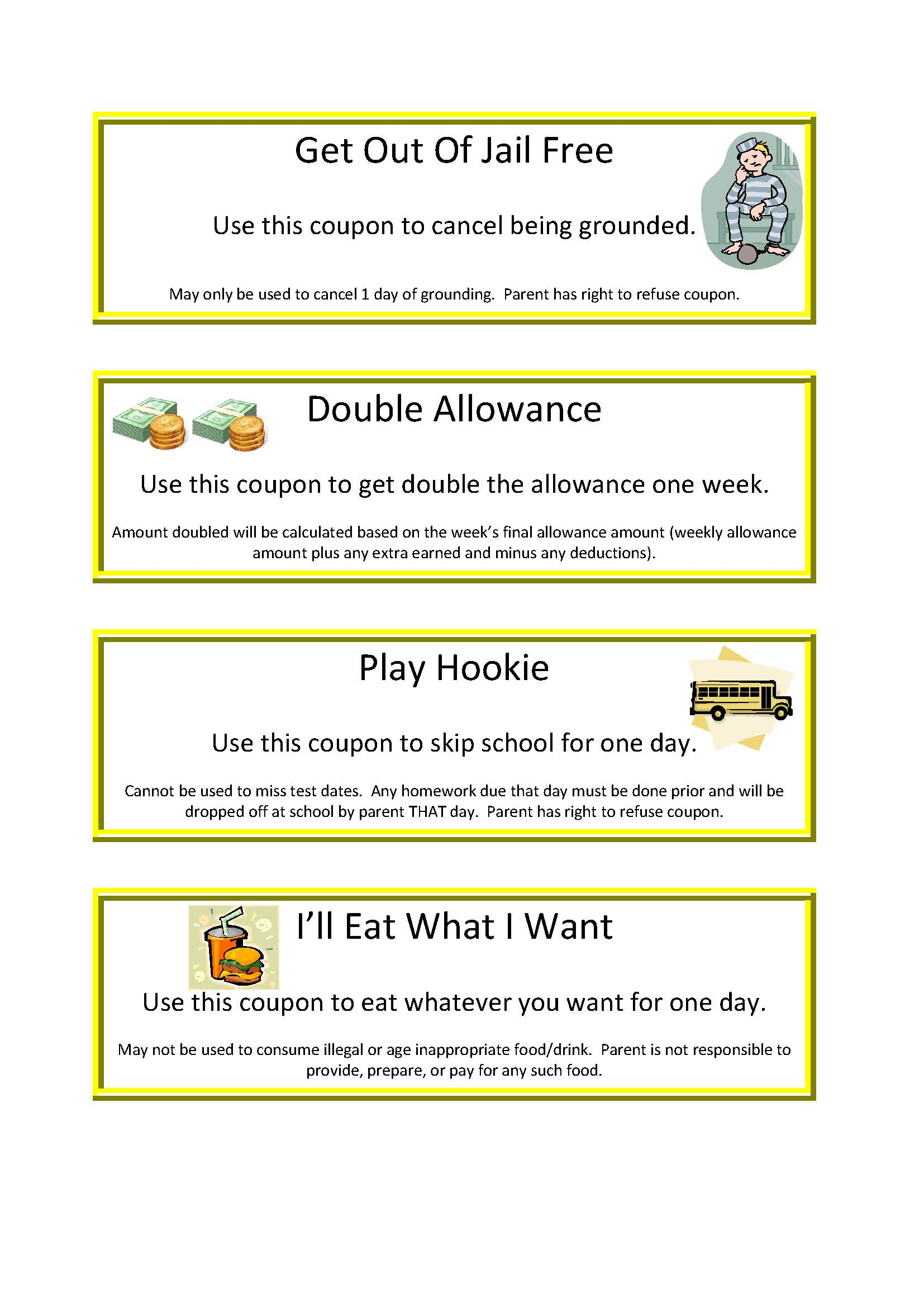 T Coupons For Kids