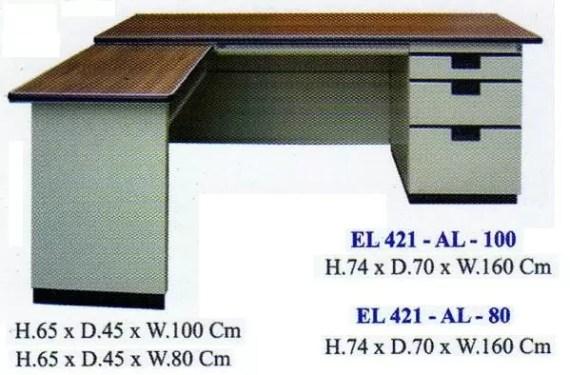 Elite Meja Kantor L Besi type EL 421 AL