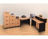 Meja Kantor Uno Classic Series Warna Beech 2