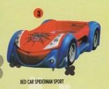 Bigland Bed Car Spiderman Sport