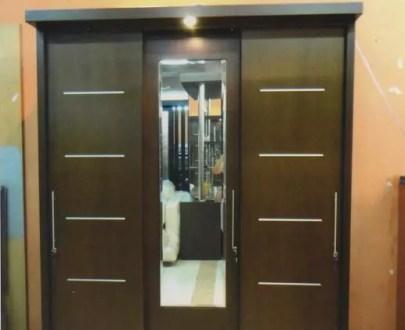 Deco Maju Lemari 3 pintu sliding type ALANA tu Laci AOxxx