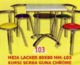 Polaris Meja Lacker MM 103 dan Kursi Serba Guna Chrome