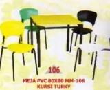 Polaris Meja PVC type MM 106 dan Kursi Turkey
