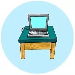 Meja Komputer Dewasa