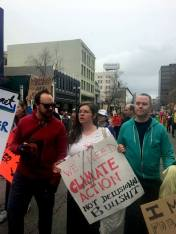 protestors at the Oakland Womens March 2017