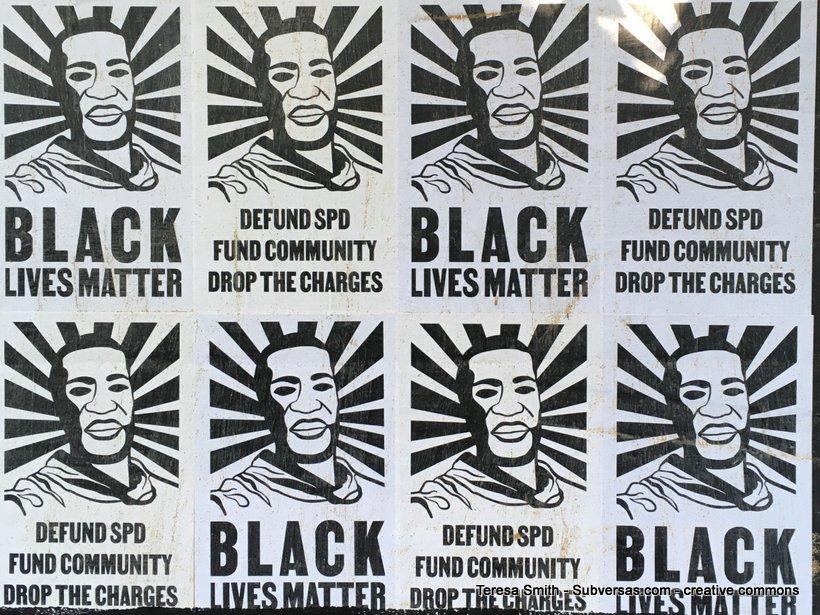 BLM posters up at Capitol Hill autonomous zone