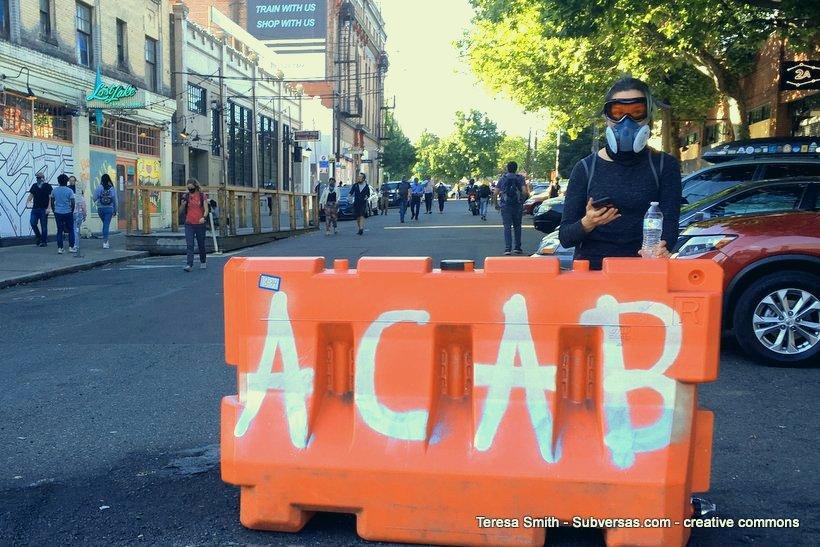 ACAB on barricade at Capital Hill Autonomous Zone
