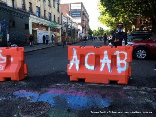 All Cops Are Bastards graffiti CHAZ