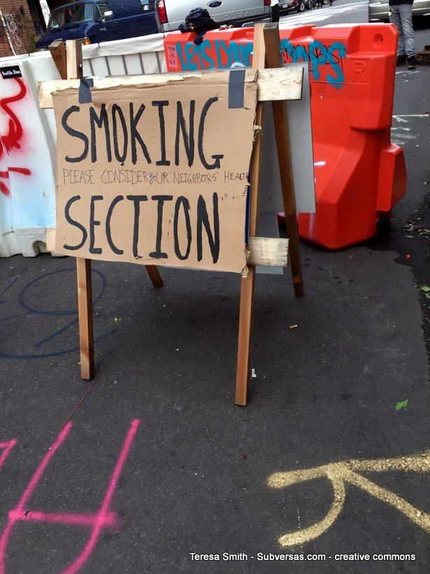 smoking section, Capitol Hill autonomous zone