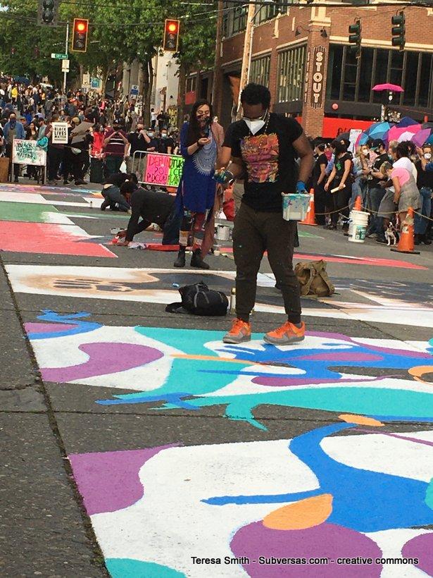 BLM muralist, Capitol Hill autonomous zone