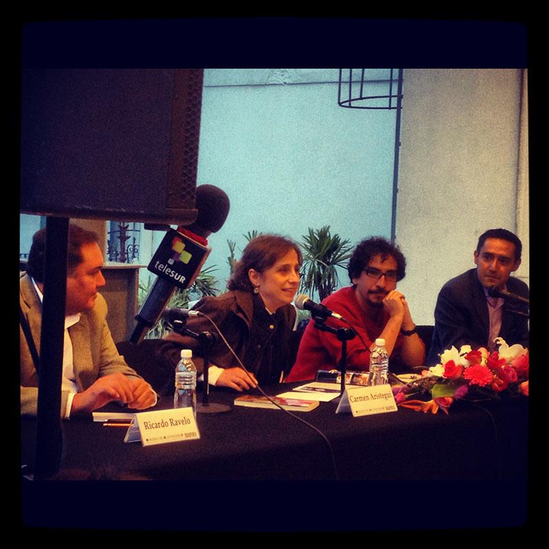Tanto Carmen Aristegui como Fabrizio Mejía Madrid han sido objeto de amenazas y hostigamientos por su labor periodística Fotografía: Heriberto Paredes