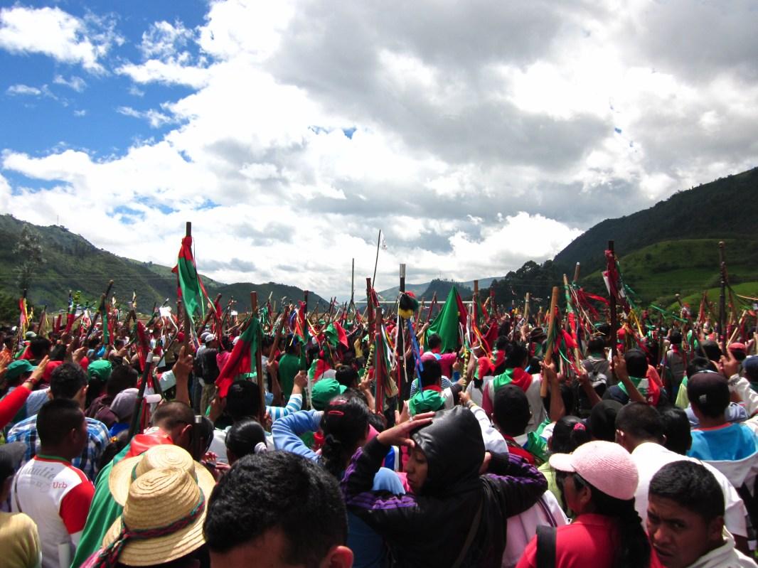 Congreso del CRIC - Kokonuko, Cauca, 2013. Fotografía: Tejido de Comunicación ACIN