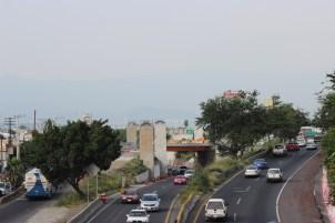 Panorámico del proceso de construcción del Proyecto Distribuidor Vial Palmira ubicado en Chipitlán, Cuernavaca