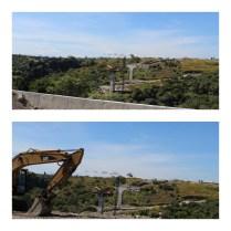 Construcción del puente Apatlaco en la zona de Alta Palmira
