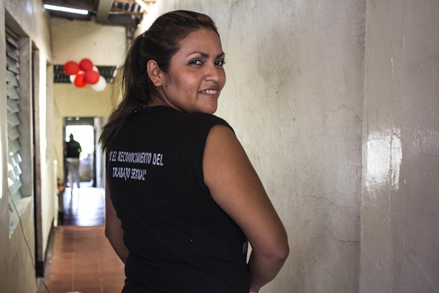 Fany, orgullosa de ser trabajadora sexual. Fotografía: Heriberto Paredes