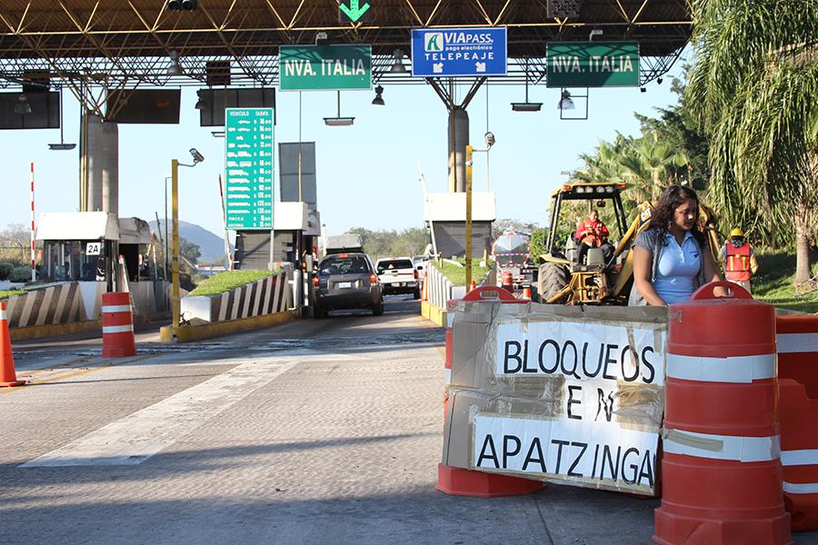 Se cerró el camino. Fotografía: Juan José Estrada Serafín