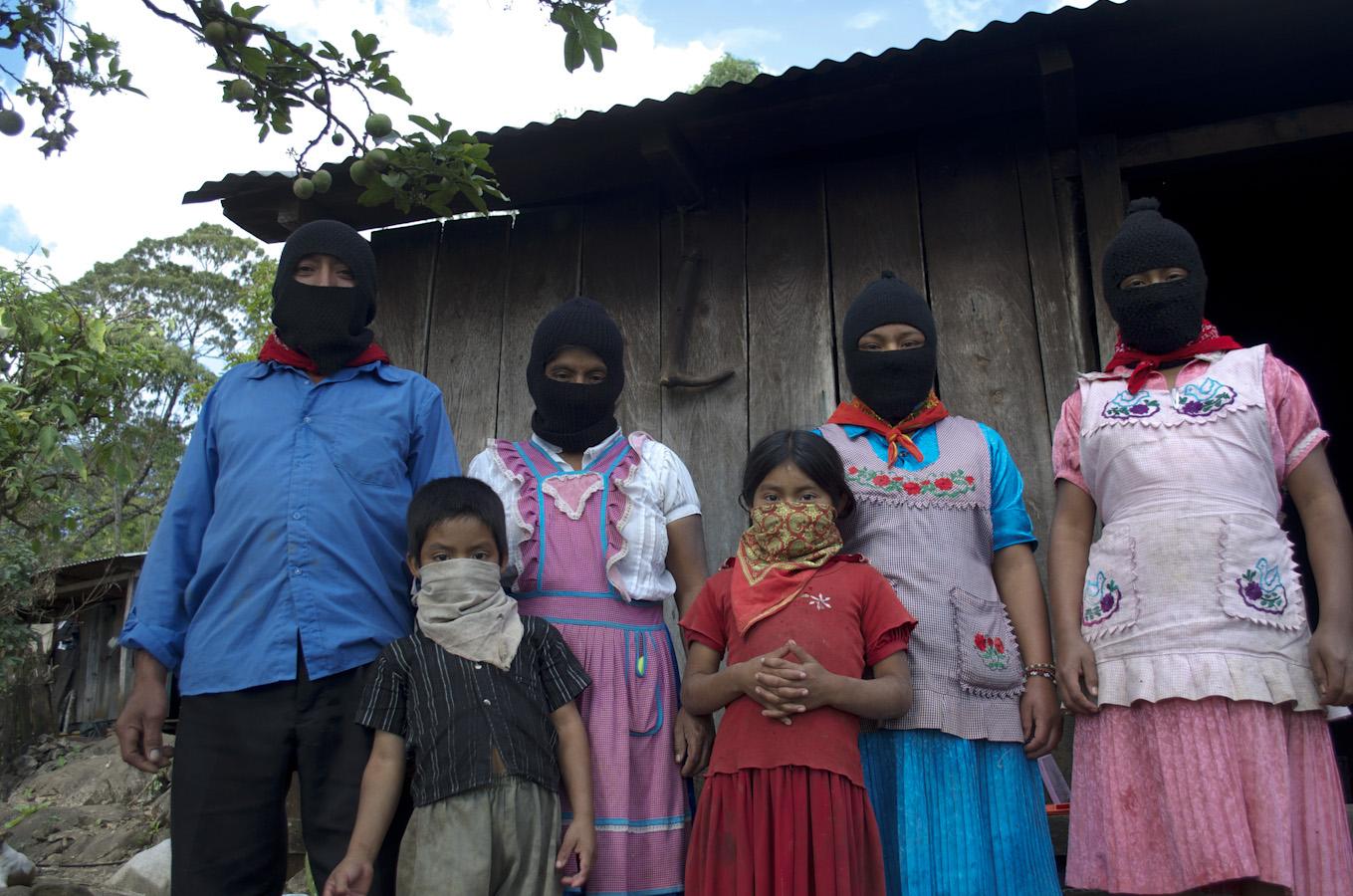 Las familias zapatistas abrieron sus hogares. Fotografía: Amaranta Marentes Orozco