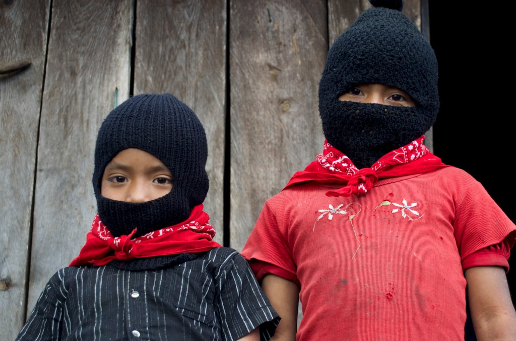 Generaciones zapatistas venideras. Fotografía: Amaranta Marentes Orozco