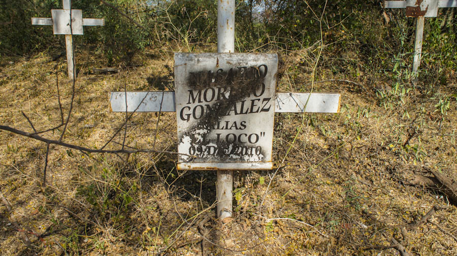Aspecto de la primera tumba de Nazario Moreno. Fotografía: Cristián Leyva