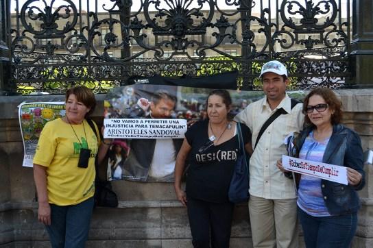#GoberEsTiempoDeCumplir; fotografía por Colectivo TAPATISTA.